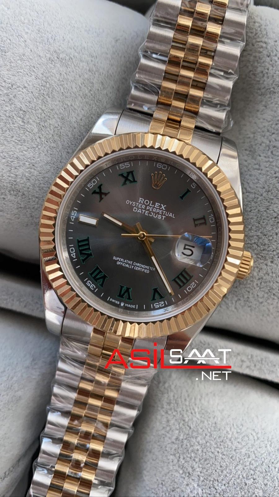 Rolex Datejust Wimbledon Two Tone Replika Saat ROLDJ021