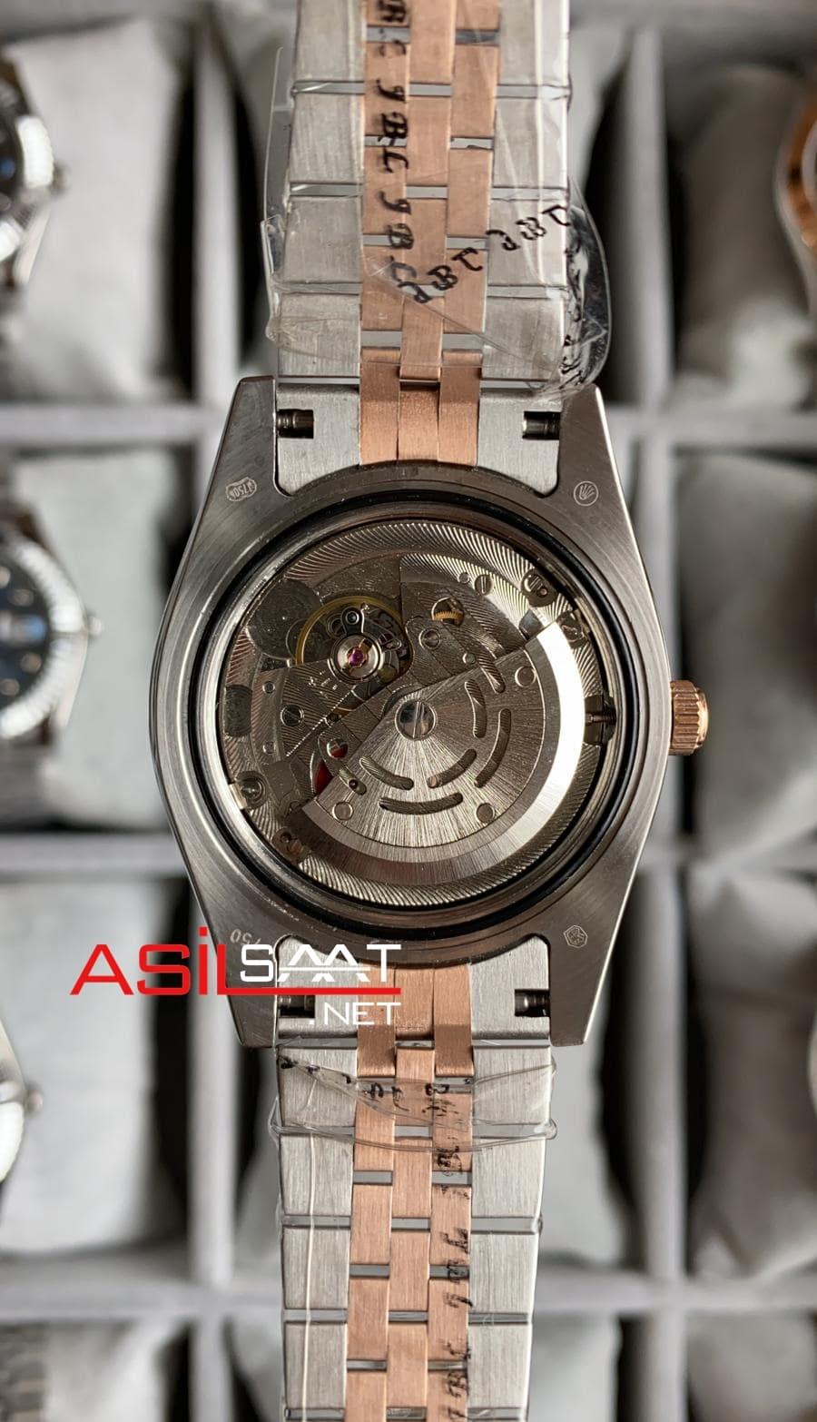 Rolex Datejust Chocolate Two Tone Replika Saat ROLDJ026