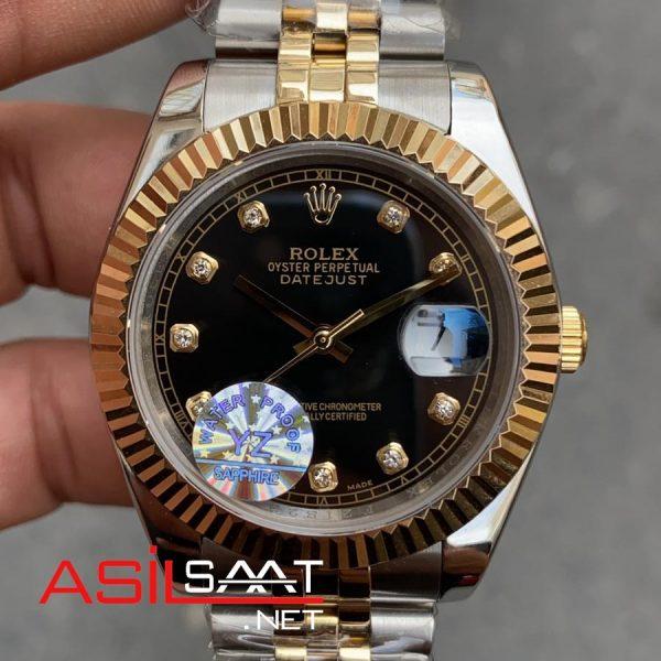 Rolex Datejust Diamond Two Tone Replika Saat ROLDJ022