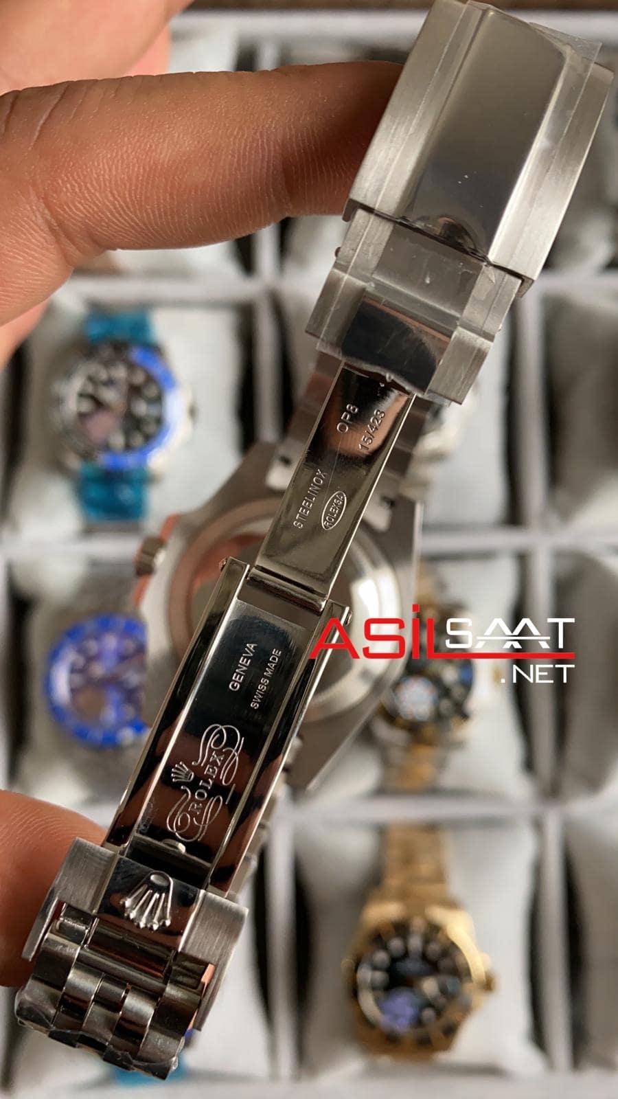 Rolex Jubilee Oyster Perpetual Gmt Master II Coca Cola Silver Replika Saat ROLG014