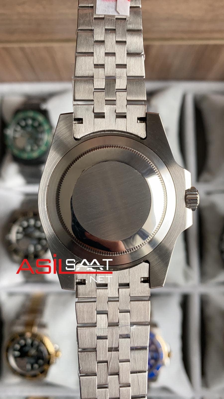 Rolex Jubilee Oyster Perpetual Gmt Master II Sprite Silver Replika Saat ROLG018