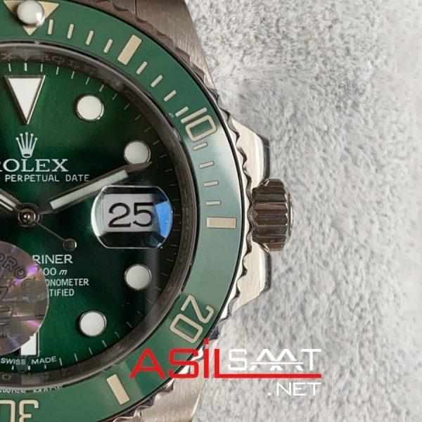 Rolex Jubilee Oyster Perpetual Submariner Hulk Silver Replika Saat ROLS017