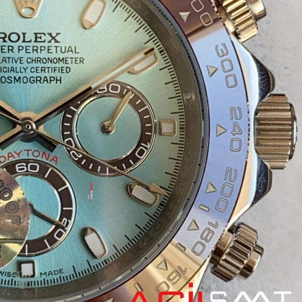 Rolex Oyster Perpetual Cosmograph Daytona Platinum Silver Replika Saat ROLDA003