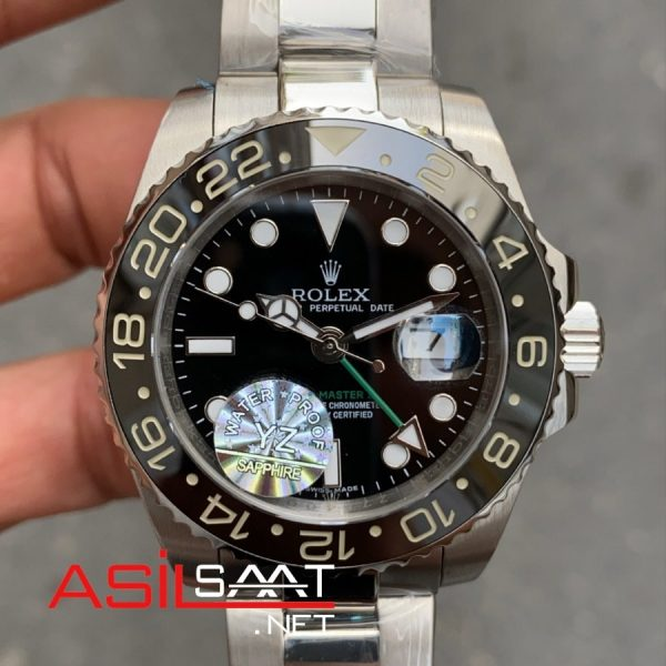 Rolex Oyster Perpetual Gmt Master ii Silver Replika Saat ROLG001
