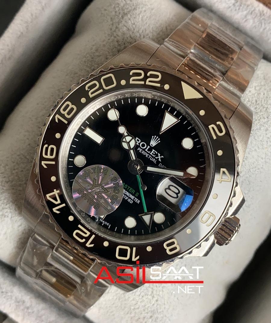 Rolex Oyster Perpetual Gmt Master ii Silver Replika Saat ROLG001