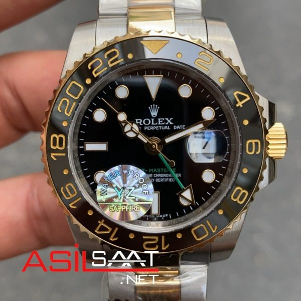 Rolex Oyster Perpetual Gmt Master II Two Tone Replika Saat ROLG002