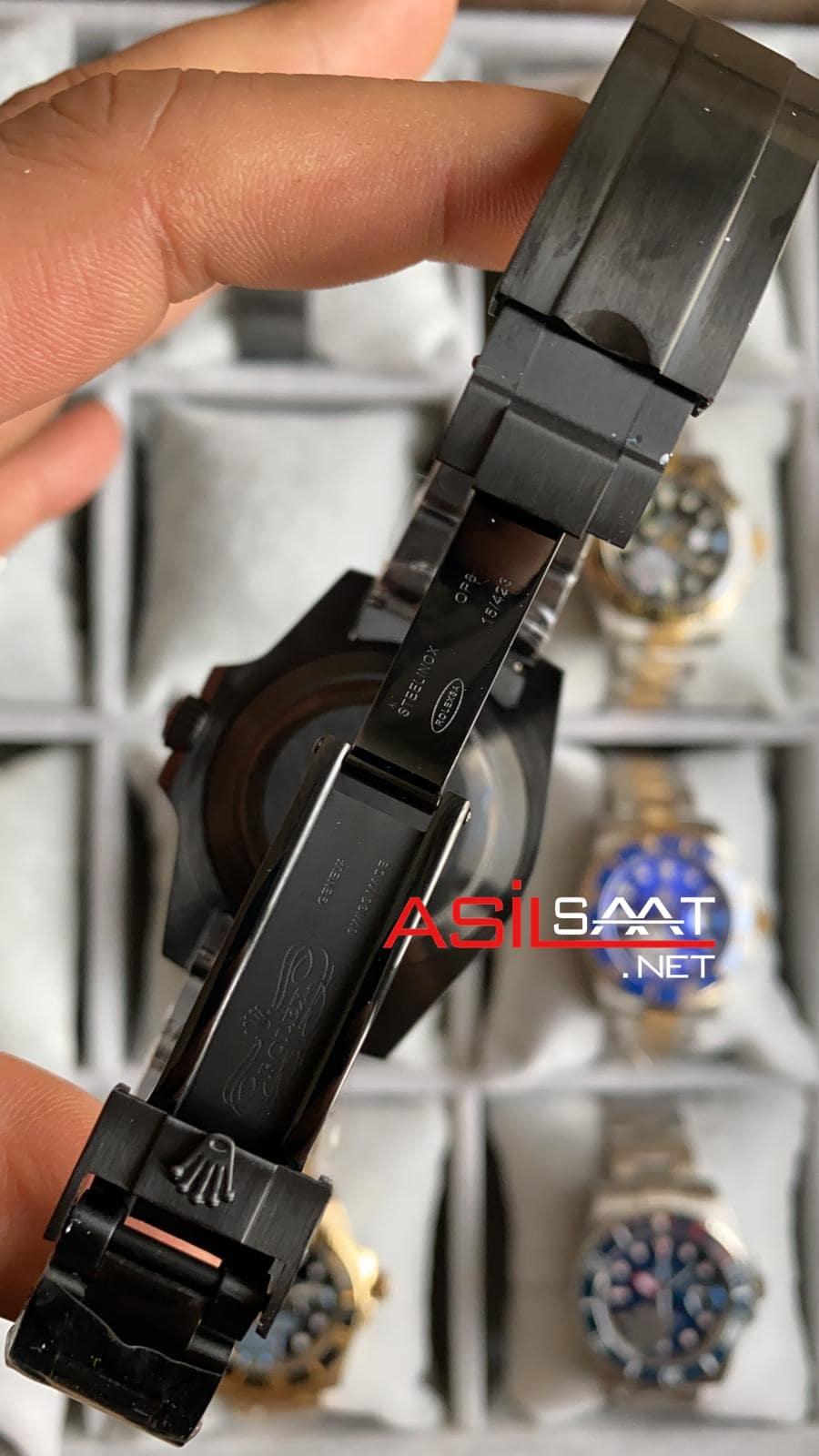 Rolex Oyster Perpetual Submariner Black Hulk Replika Saat ROLS015