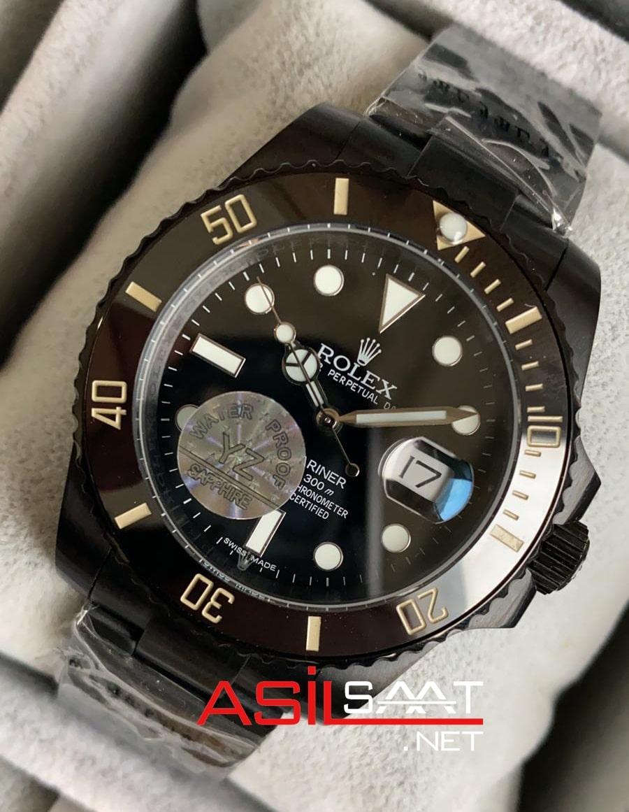 Rolex Oyster Perpetual Submariner Black Replika Saat ROLS014