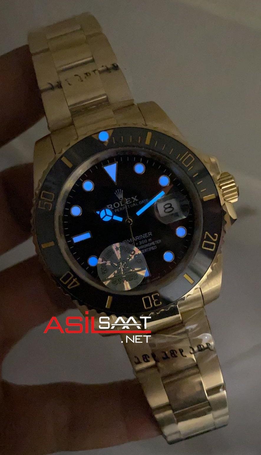 Rolex Oyster Perpetual Submariner Gold Replika Saat ROLS011