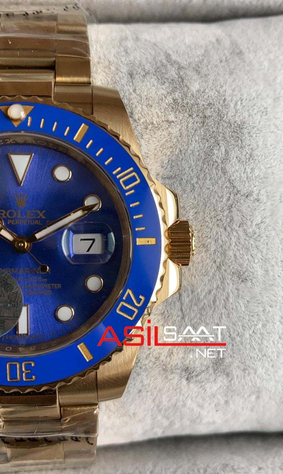 Rolex Oyster Perpetual Submariner Gold Replika Saat ROLS012