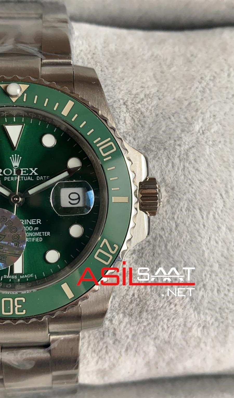 Rolex Oyster Perpetual Submariner Hulk Silver Replika Saat ROLS003