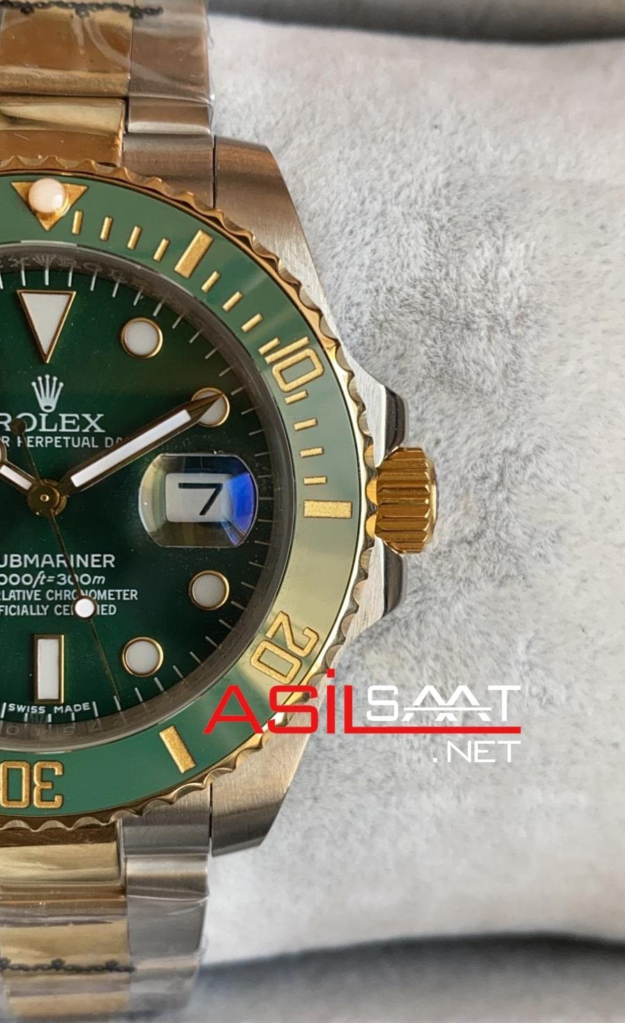 Rolex Oyster Perpetual Submariner Two Tone Replika Saat ROLS008