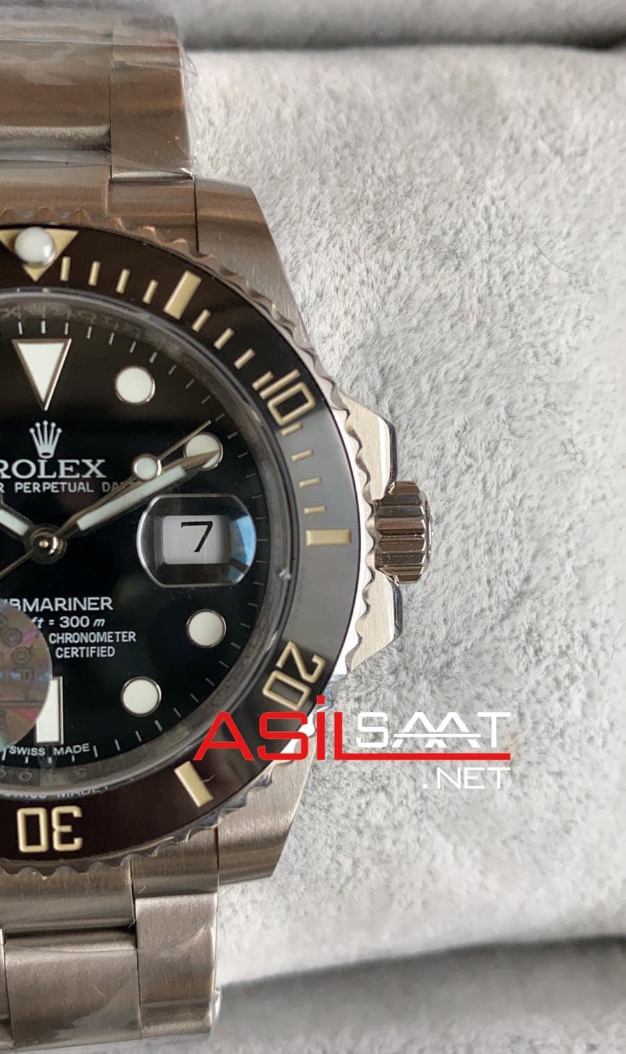 Rolex Oyster Perpetual Submariner Silver Replika Saat ROLS001