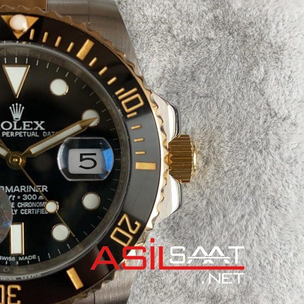 Rolex Oyster Perpetual Submariner Two Tone Replika Saat ROLS006