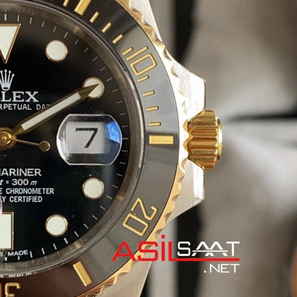 Rolex Oyster Perpetual Submariner Two Tone Replika Saat ROLS006