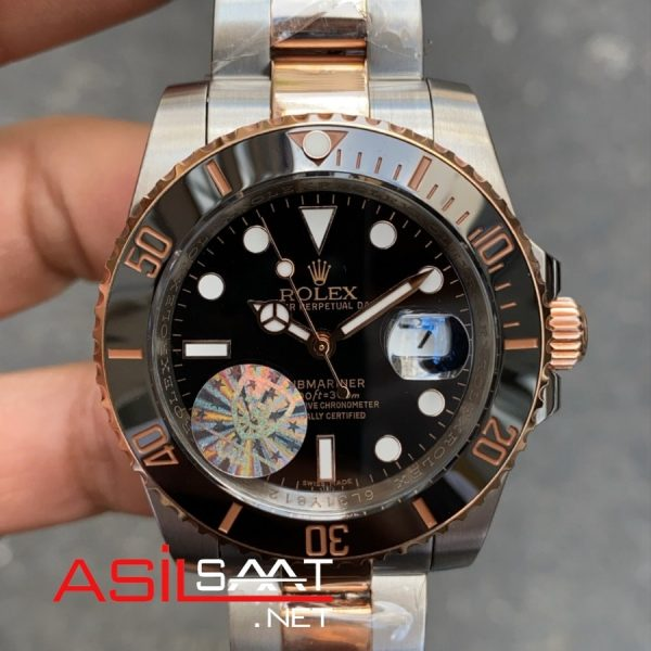 Rolex Oyster Perpetual Submariner Two Tone Replika Saat ROLS010