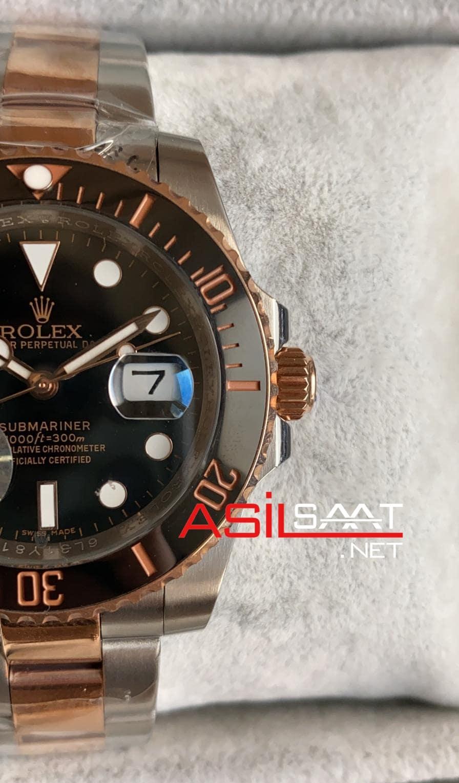 Rolex Oyster Perpetual Submariner Two Tone Replika Saat ROLS010