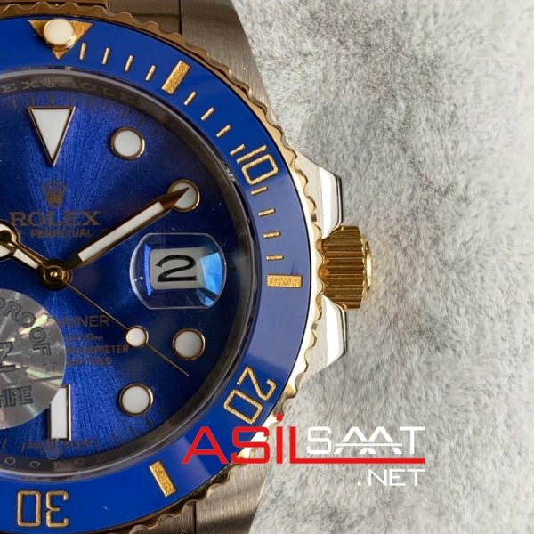 Rolex Oyster Perpetual Submariner Two Tone Replika Saat ROLS007