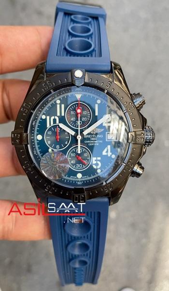 breitling-avanger-black-blue-chronograph-kadran-siyah-replika-saat-1