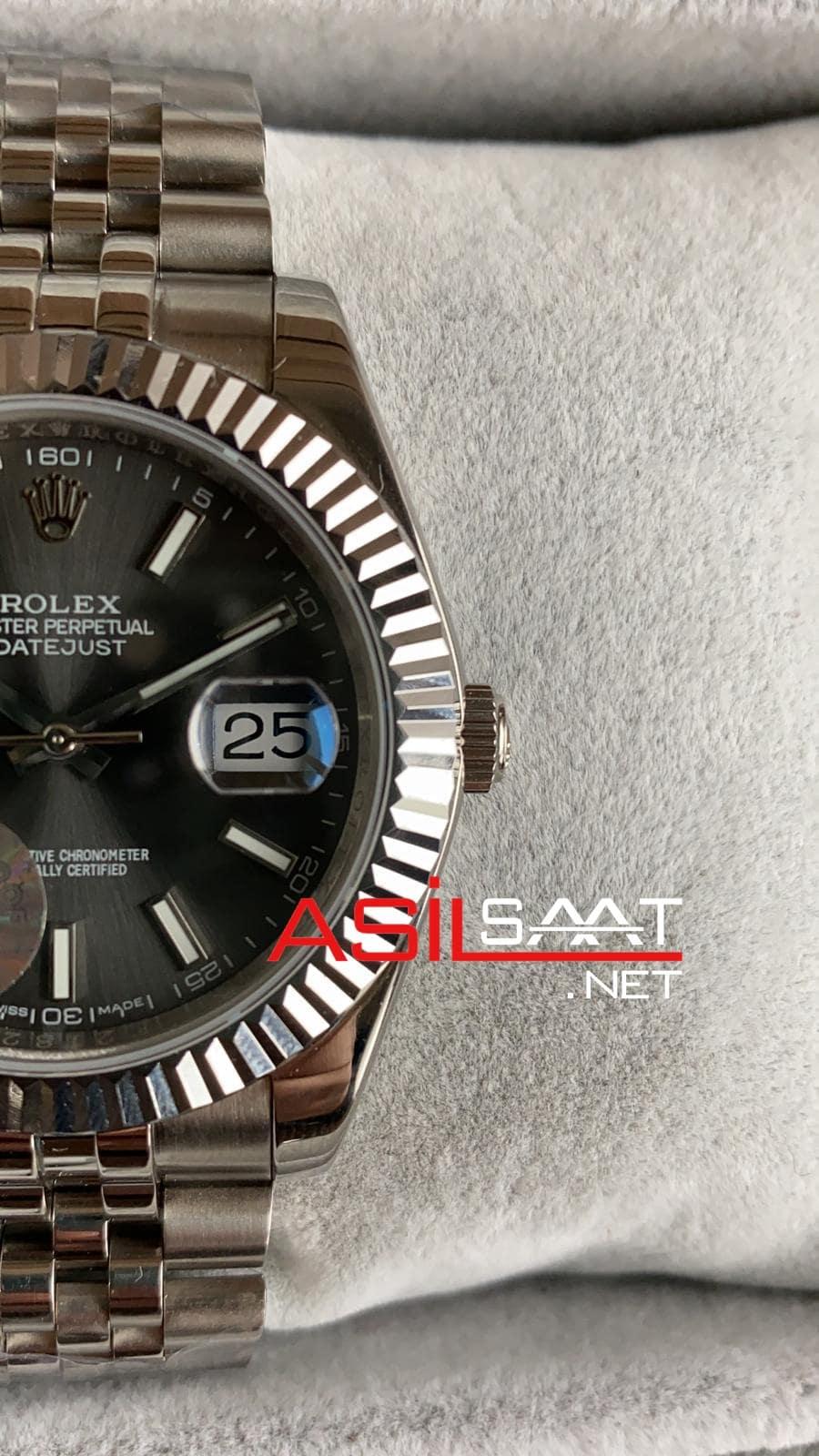 Rolex Datejust Silver Replika Saat ROLDJ004