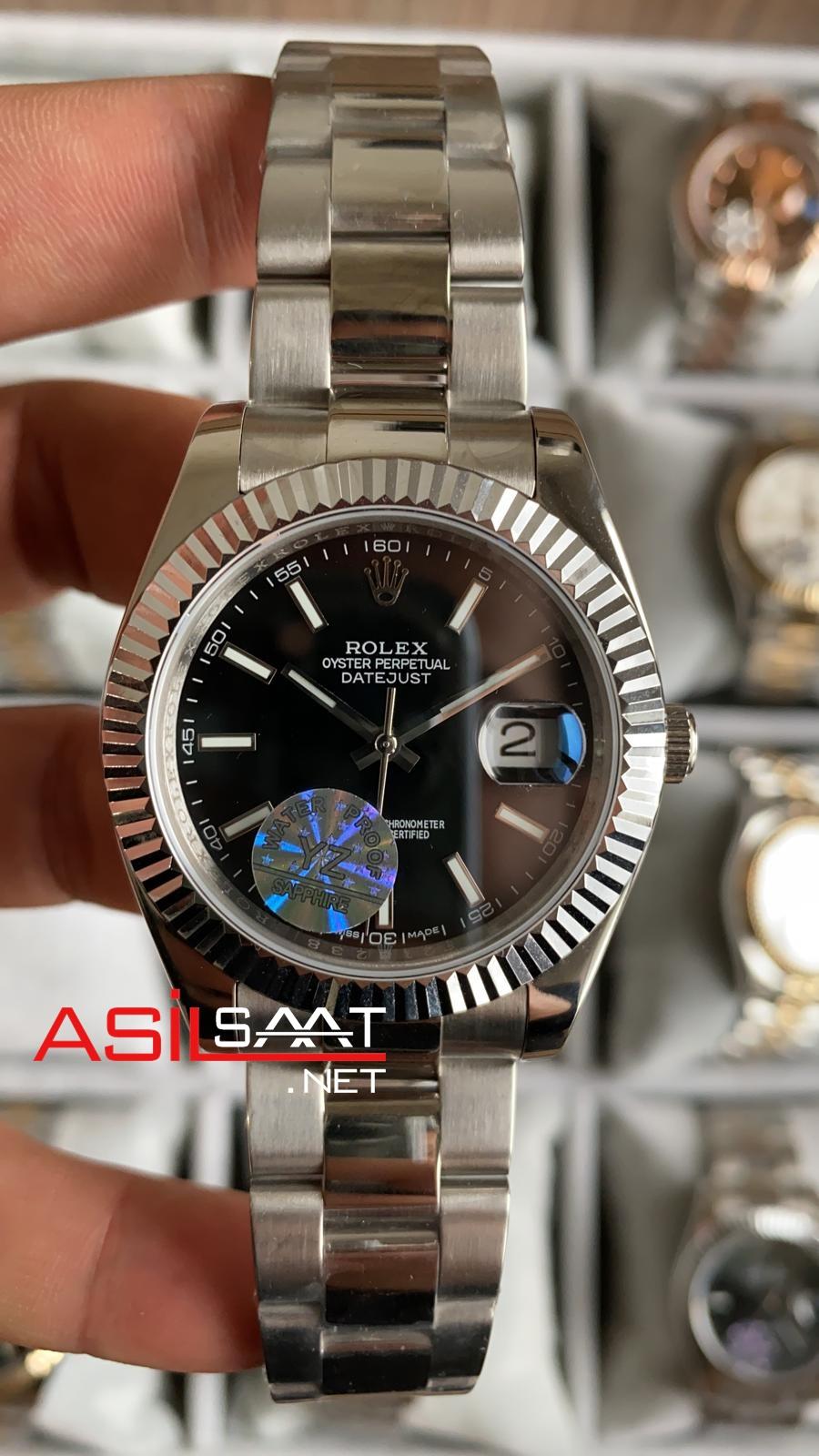Rolex Datejust Silver Replika Saat ROLDJ005