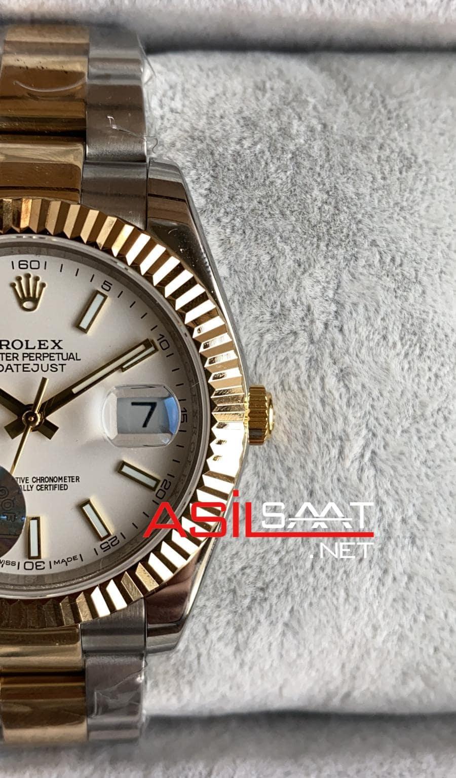 Rolex Datejust Two Tone Replika Saat ROLDJ017