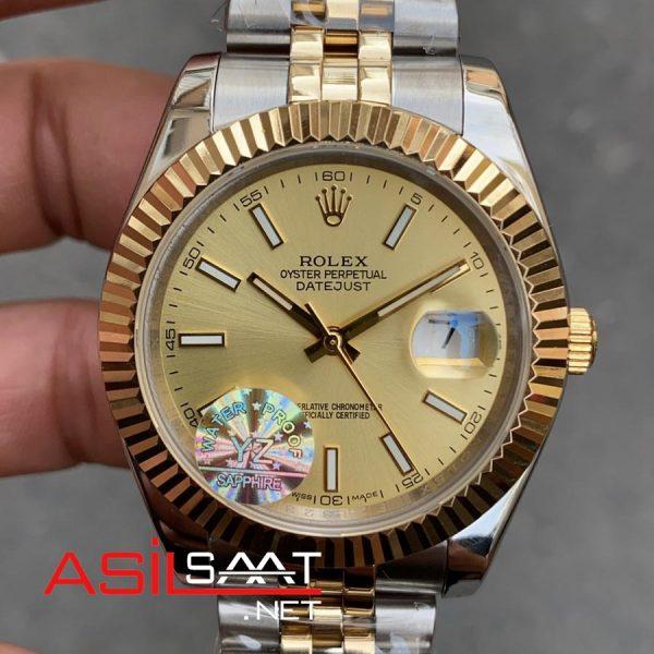 Rolex Datejust Two Tone Replika Saat ROLDJ018
