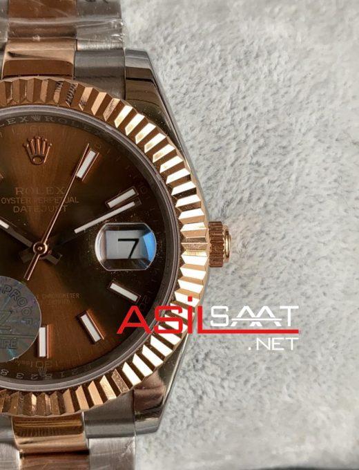 Rolex Datejust Chocolate Everose Two Tone Replika Saat ROLDJ027