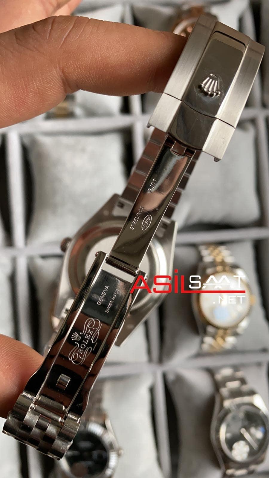 Rolex Datejust Diamond Silver Replika Saat ROLDJ008