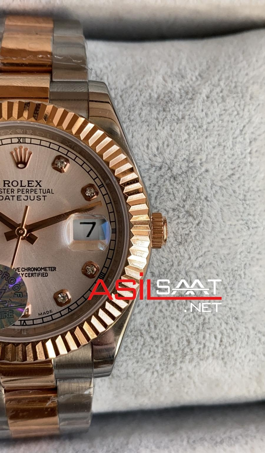 Rolex Datejust Diamond Two Tone Replika Saat ROLDJ031