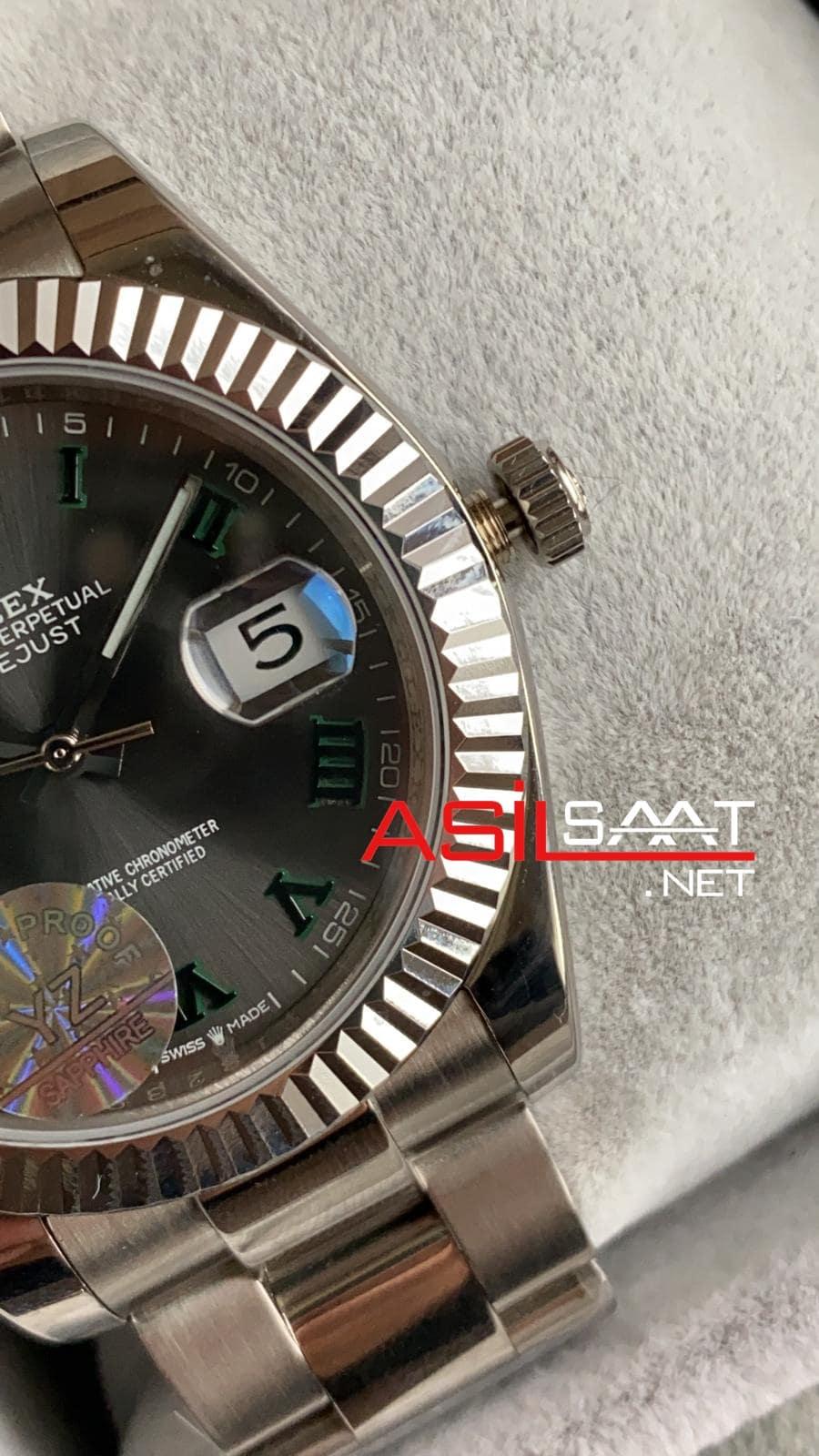 Rolex Datejust Wimbledon Silver Replika Saat ROLDJ013