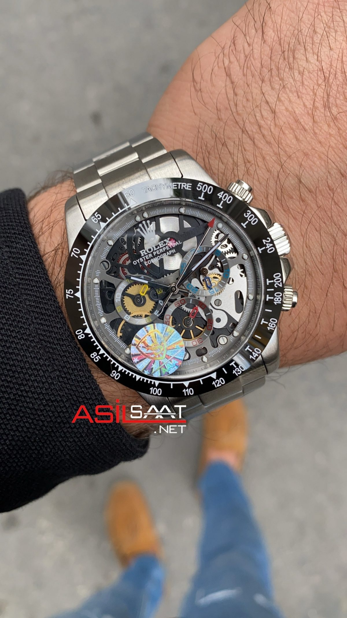 Rolex Daytona Juan Pablo Montoya Silver Replika Saat ROLDA030
