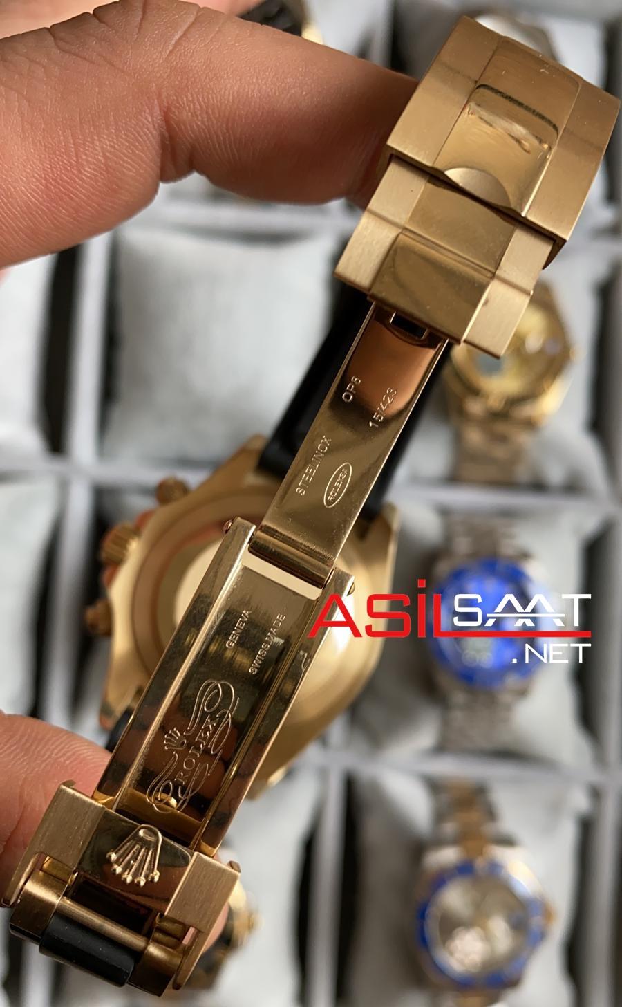 Rolex Oyster Perpetual Cosmograph Daytona Gold black Replika Saat ROLDA026