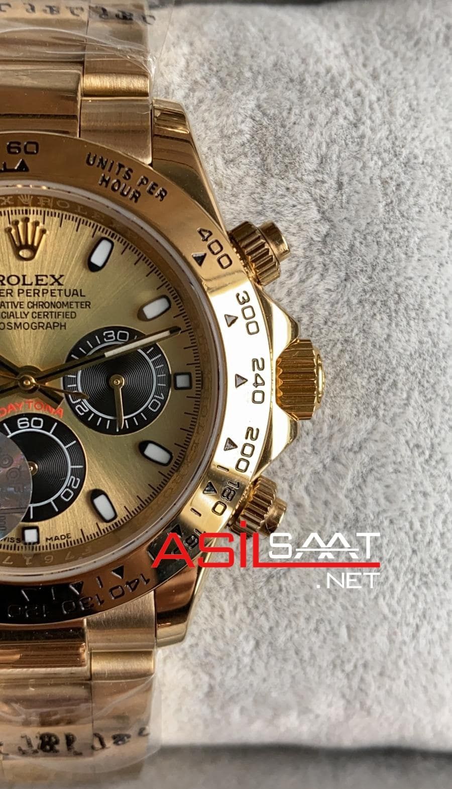 Rolex Oyster Perpetual Cosmograph Daytona Gold Replika Saat ROLDA020