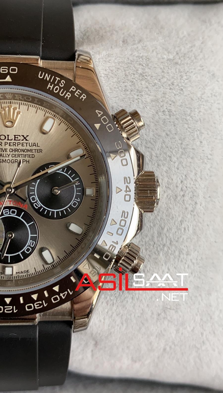 Rolex Oyster Perpetual Cosmograph Daytona Silver Black Replika Saat ROLDA025