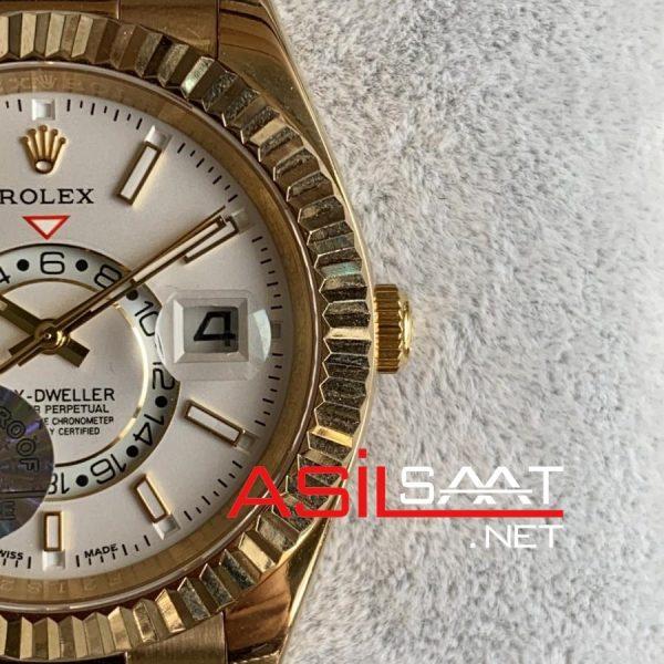 Rolex Oyster Perpetual Sky Dweller Gold Replika Saat ROLSKY011
