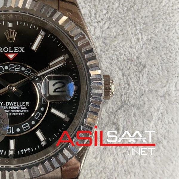 Rolex Oyster Perpetual Sky Dweller Silver Replika Saat ROLSKY001