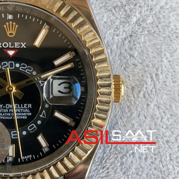 Rolex Oyster Perpetual Sky Dweller Two Tone Replika Saat ROLSKY006