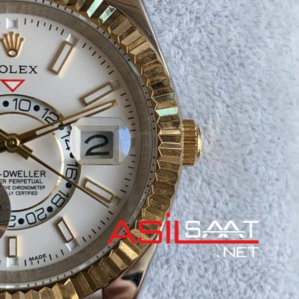 Rolex Oyster Perpetual Sky Dweller Two Tone Replika Saat ROLSKY007