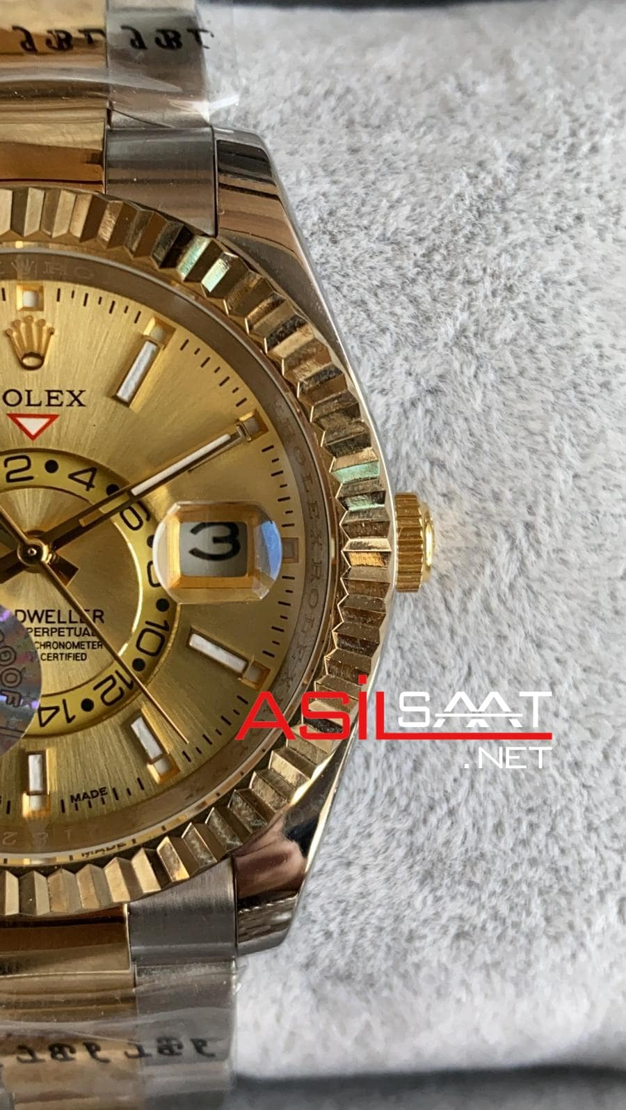 Rolex Oyster Perpetual Sky Dweller Two Tone Replika Saat ROLSKY008
