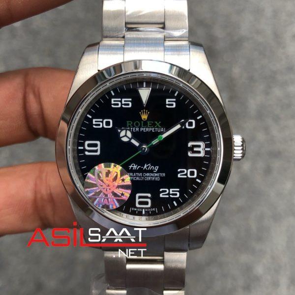 Rolex Air King Silver Replika Saat ROLAIR001