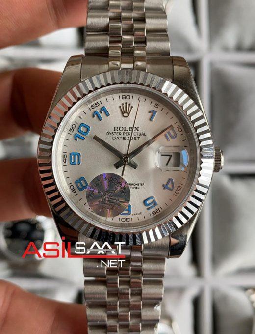 Rolex Datejust Silver Replika Saat ROLDJ011