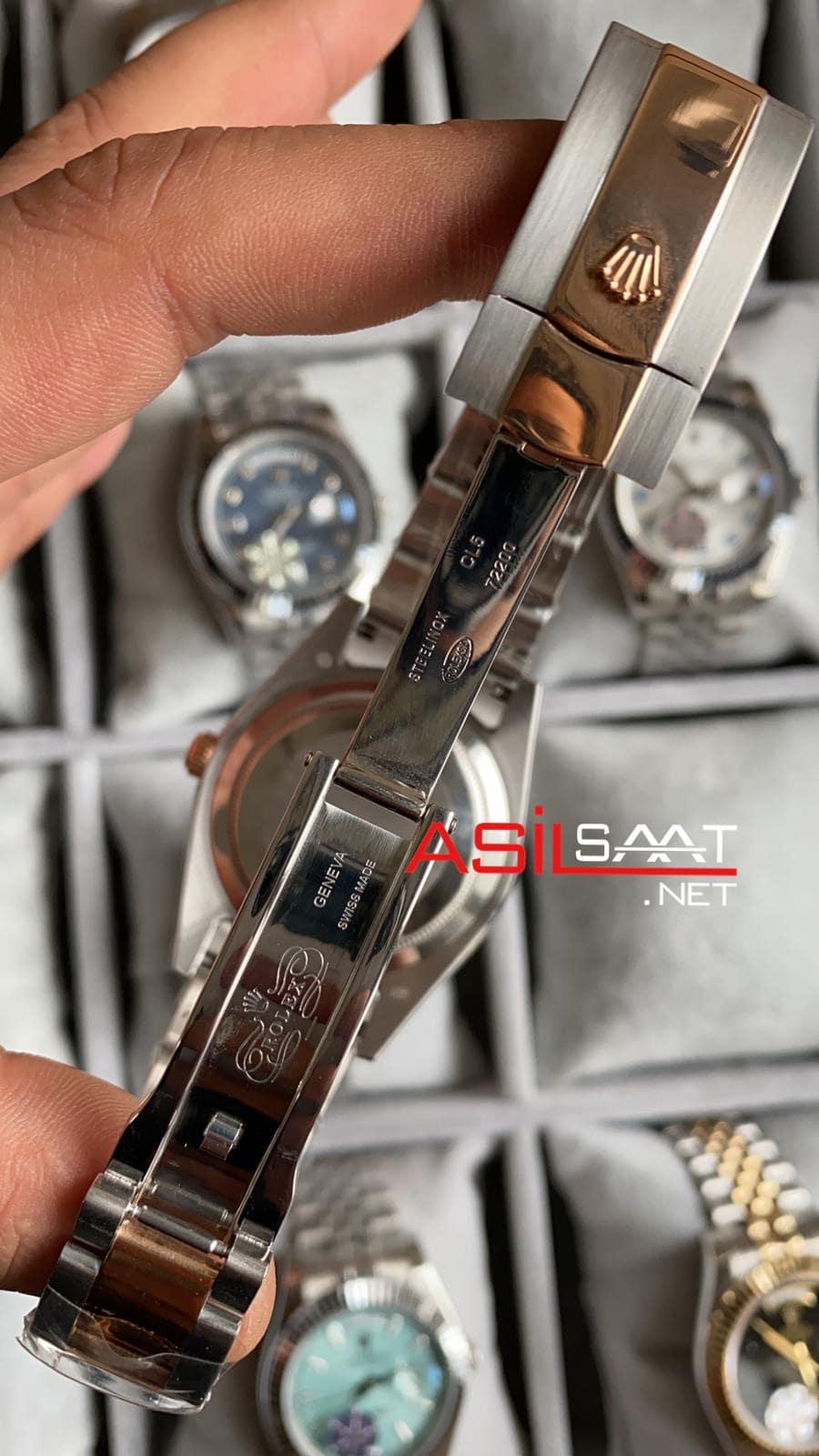 Rolex Day-Date Diamond Two Tone Replika Saat ROLDD047