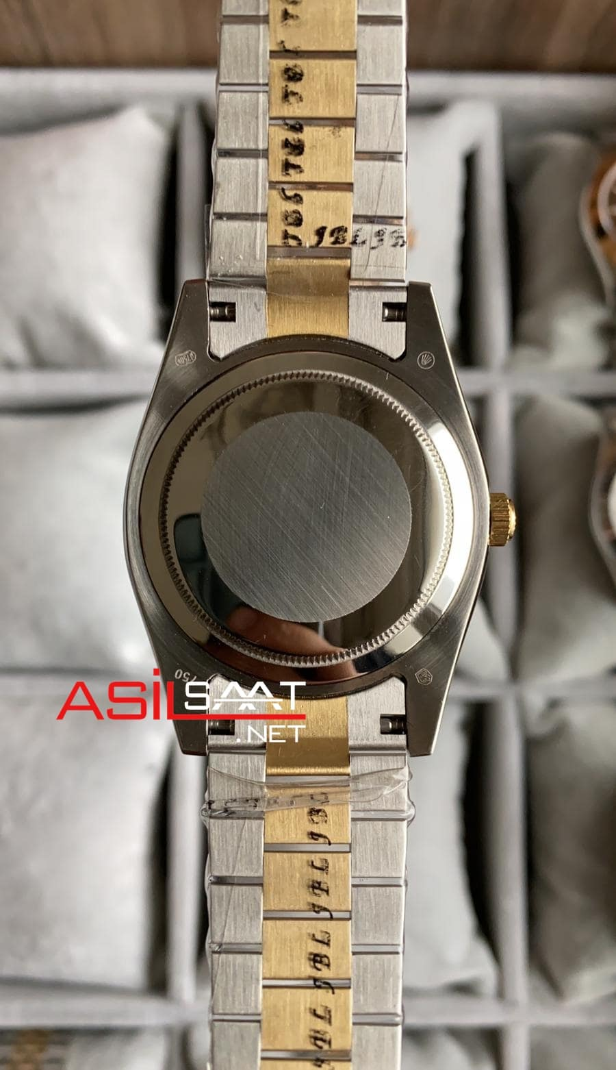 Rolex Day-Date Diamond Two Tone Replika Saat ROLDD058