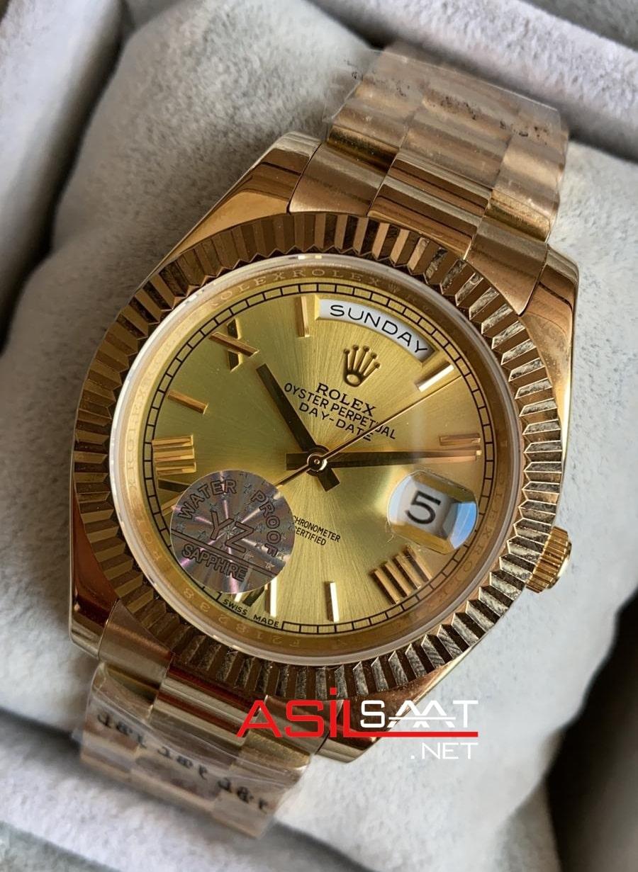 Rolex Day-Date Gold Replika Saat ROLDD024