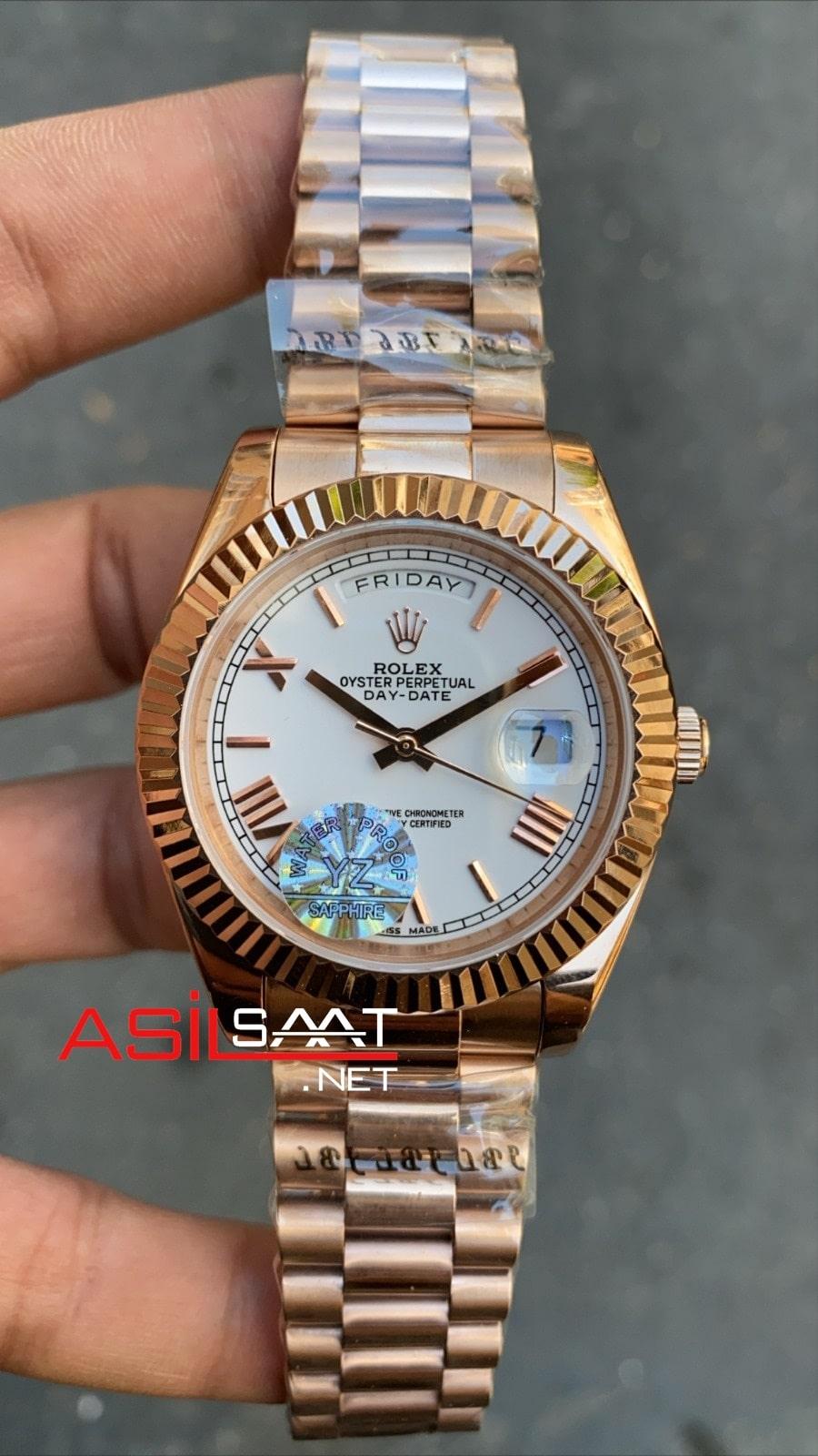 Rolex Day-Date Rosegold Replika Saat ROLDD033