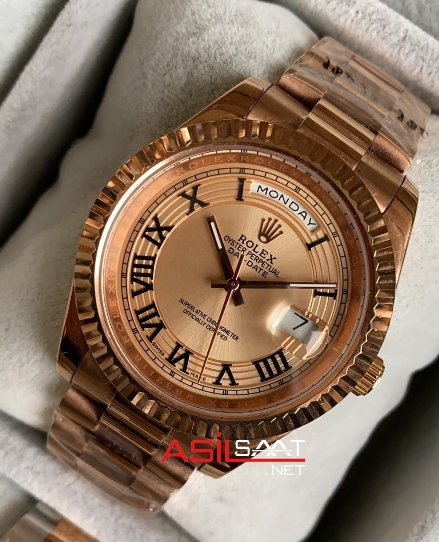 Rolex Day-Date Rosegold Replika Saat ROLDD036