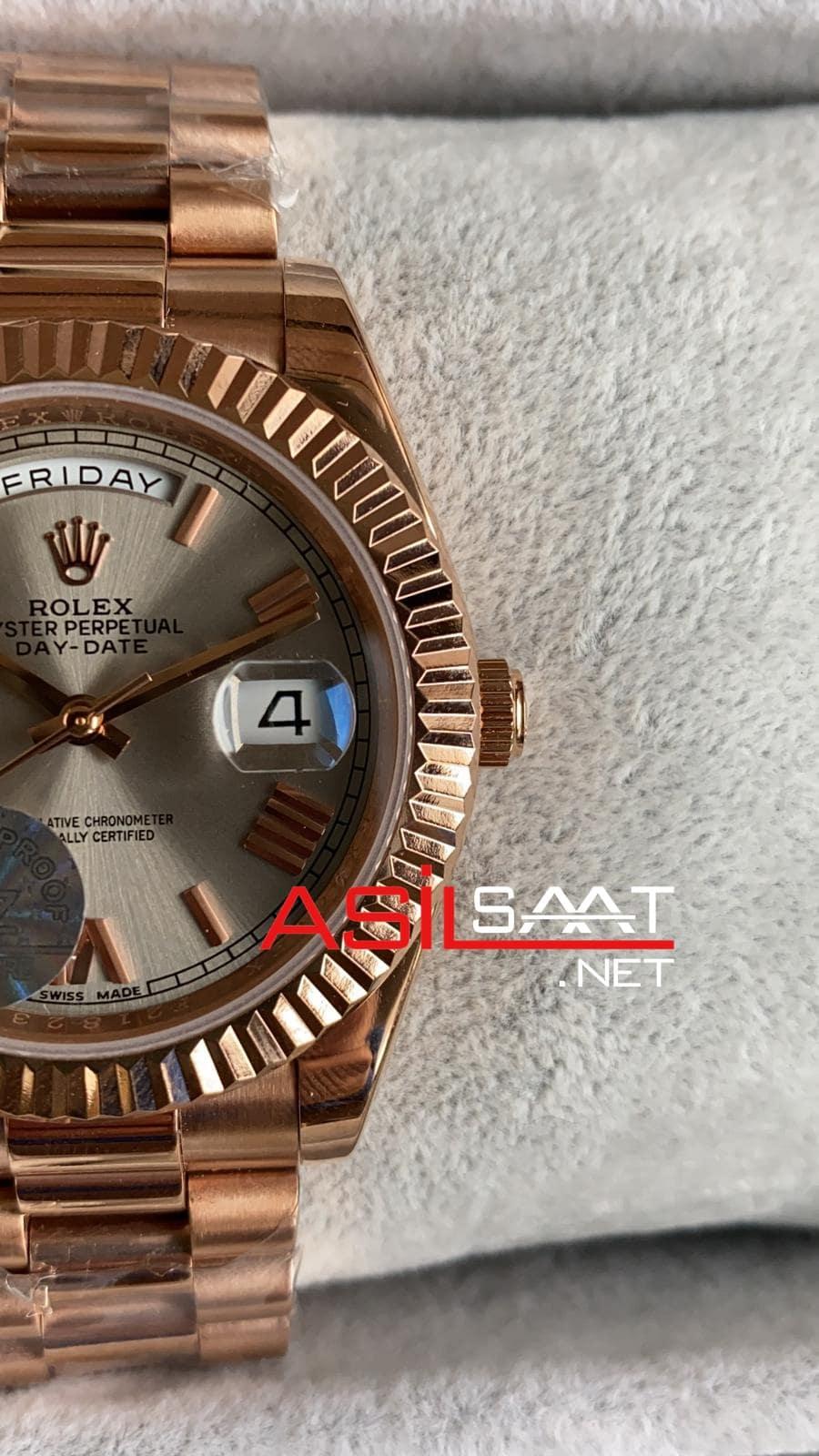 Rolex Day-Date Rosegold Replika Saat ROLDD037