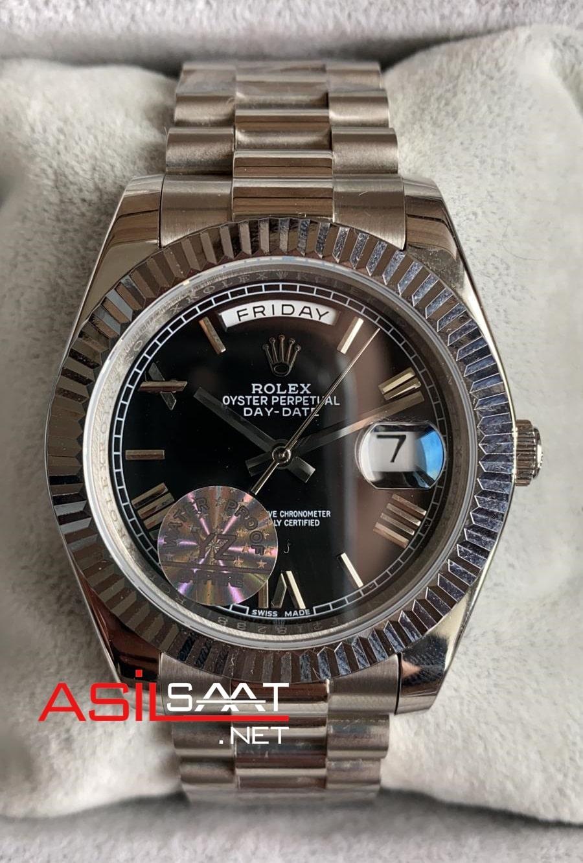 Rolex Day-Date Silver Replika Saat ROLDD001