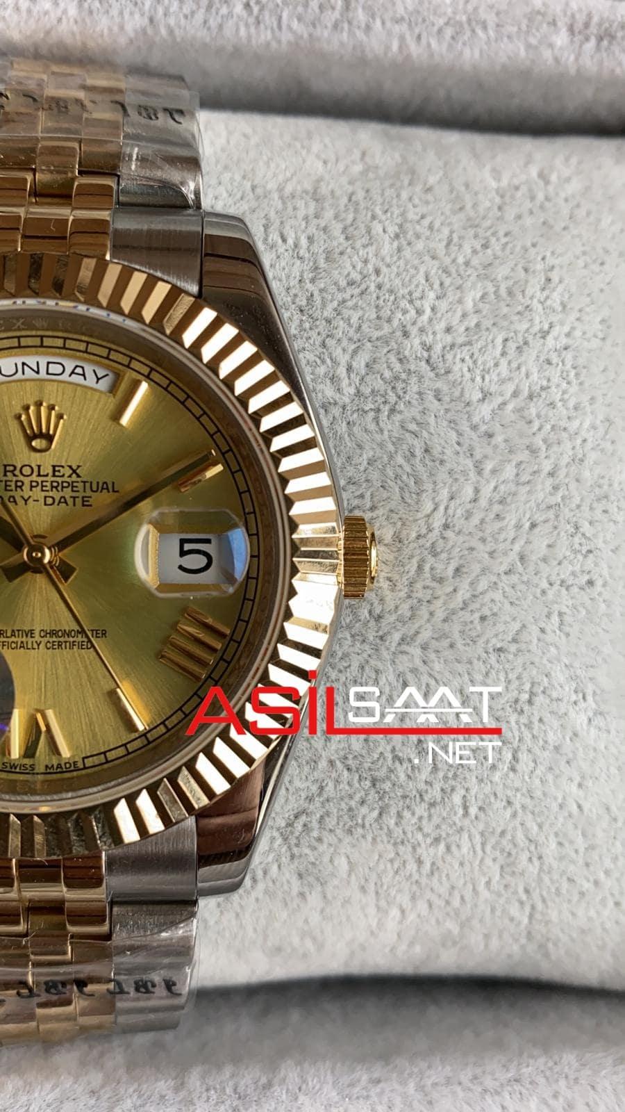 Rolex Day-Date Two Tone Replika Saat ROLDD017